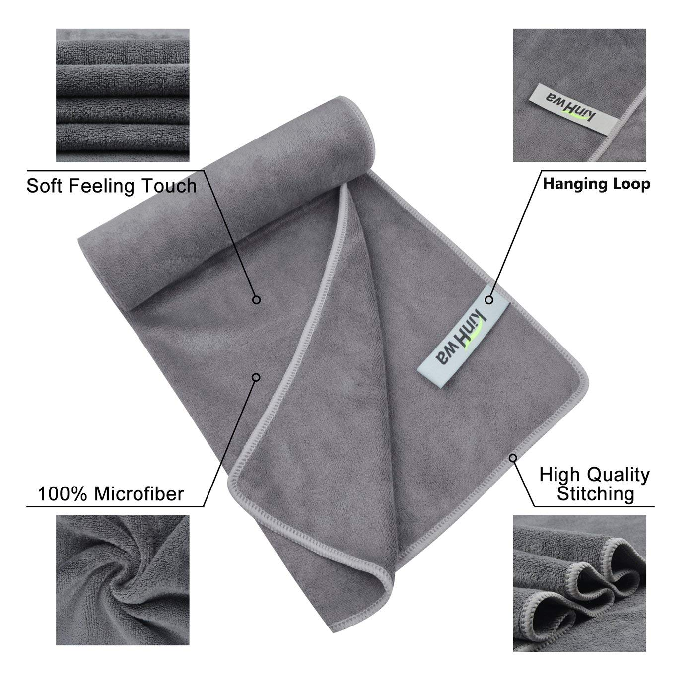 4 Pack Car Seat Headrest Hooks Strong and Durable Backseat Headrest Hanger Storage for Handbags, Purses, Coats, and Grocery Bags, Universal Vehicle Car Seat Back Headrest (Include Drying Towel