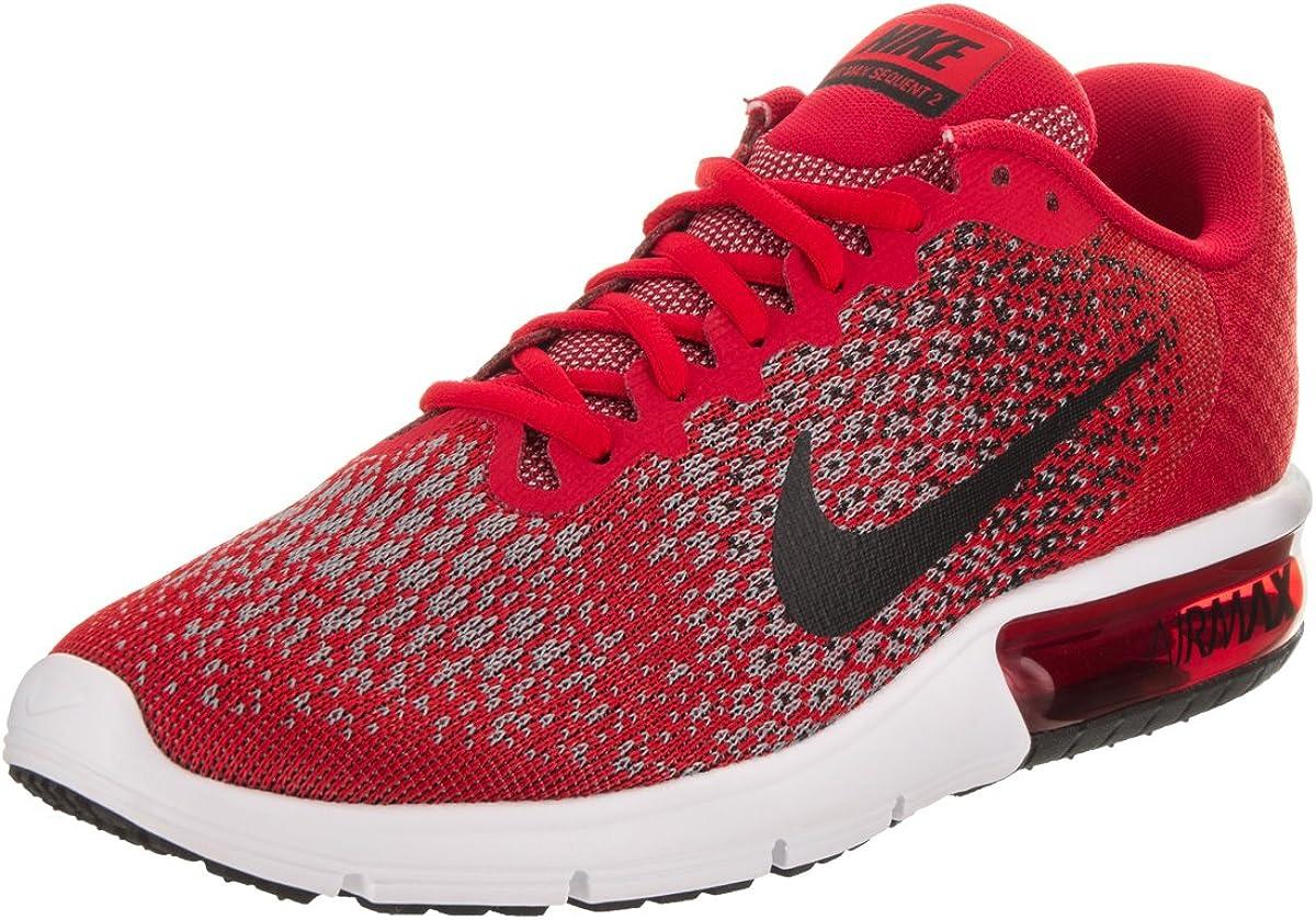 Zapatillas de running Nike Air Max Sequent 2 University rojas / negras / negras para hombre 10.5 Men US: Amazon.es: Zapatos y complementos