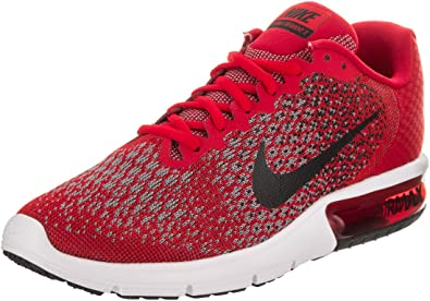 Zapatillas de running Nike Air Max Sequent 2 University rojas / negras / negras para hombre 10.5 Men US: Amazon.es: Zapatos y complementos
