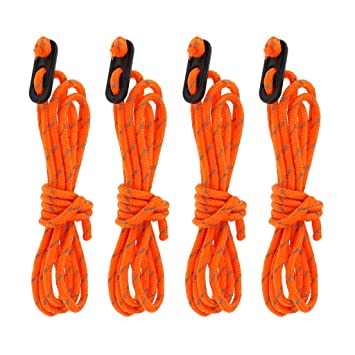 4 Tent Pegs Tent Accessories Kit 4 Guy Line Runners 4 Reflective Rope