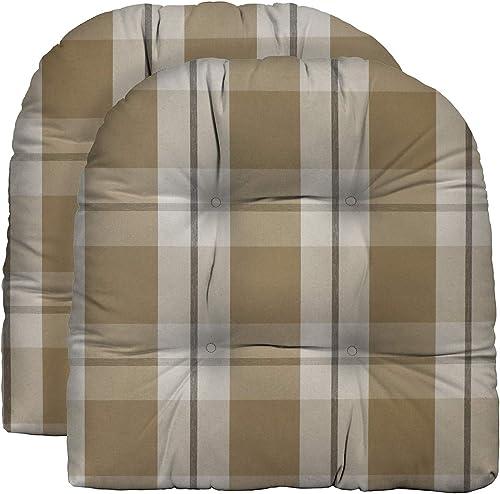 Best outdoor chair cushion: RSH D cor Indoor Outdoor Grey Brown Tan Prints