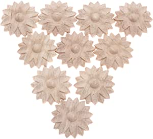 MUXSAM 10-Pack Carved Small Furniture Onlays Appliques, 4cm/1.57