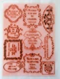 Proverbes, aphorismes, disent // Tampon Clear Stamp grande feuille 18x24cm FLONZ