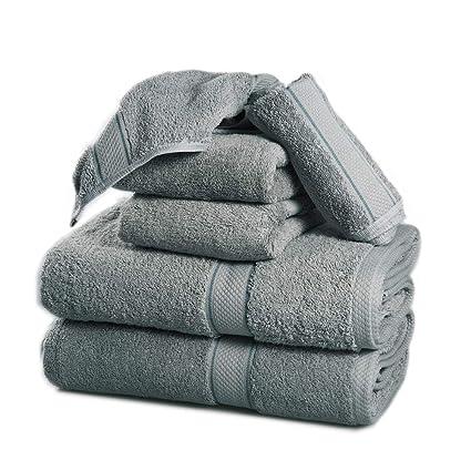 Juego de toallas de 6 piezas, 2 toallas de baño, 2 paños de lavado