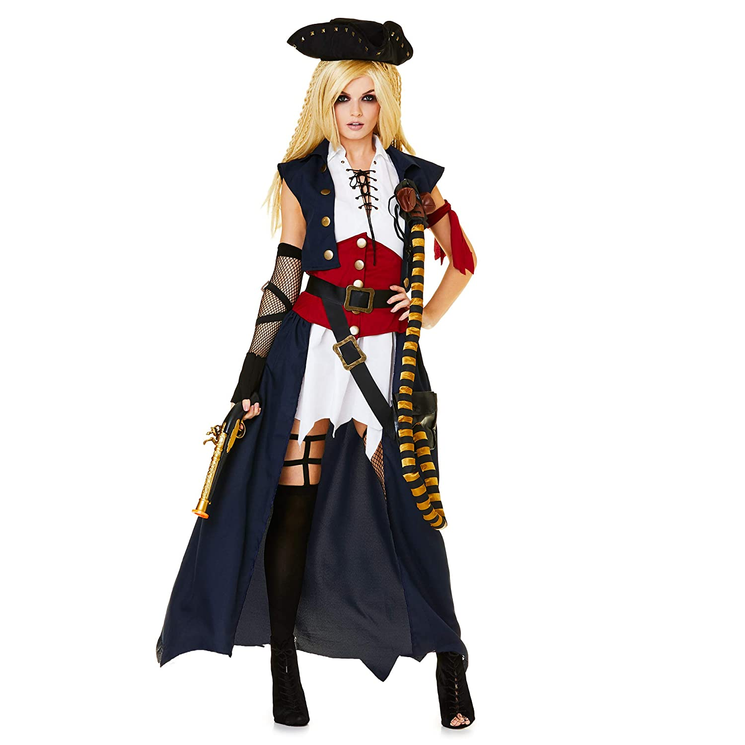 Karnival 81303 Mariner costume da pirata, da donna, multi, Small