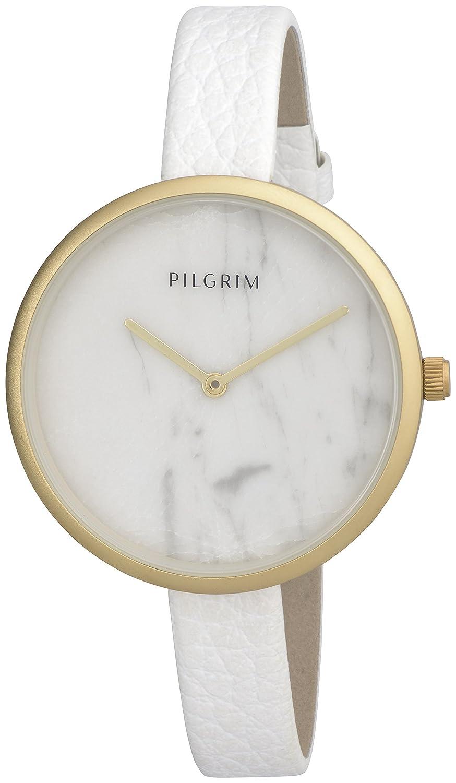 Pilgrim Damen-Armbanduhr Analog Quarz Leder 701612030