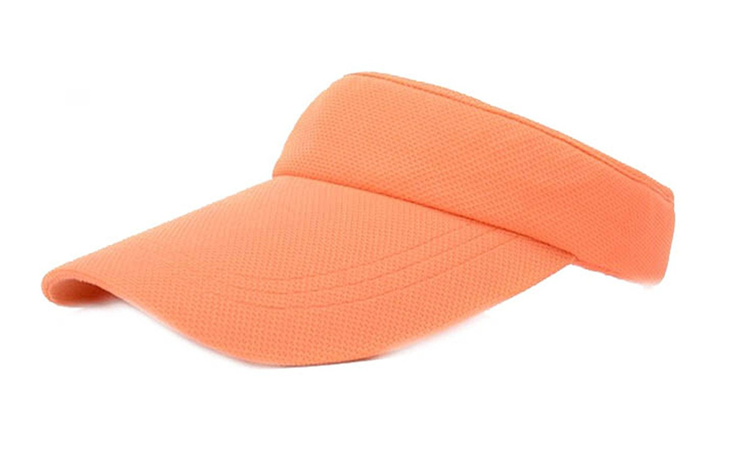 2018 New Topless Tennis Caps Stylish Sun Hat for Women Fashion Beach Sports Sun Visor Hat Golf Caps for Summer Travel,OneSize,Orange
