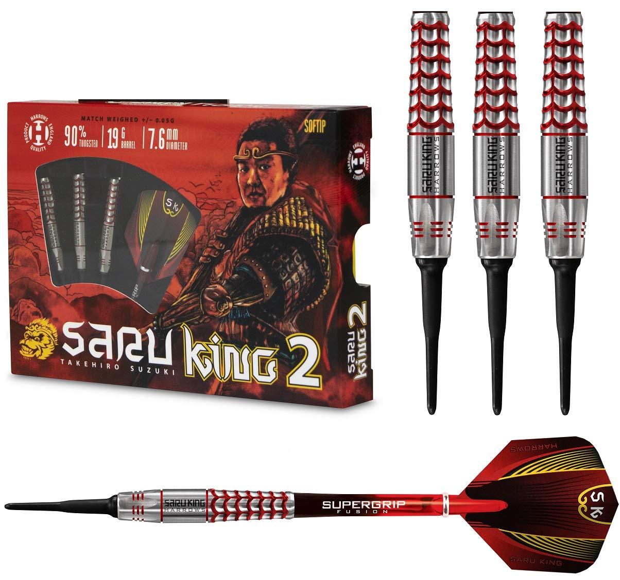 Harrows Saru King 2 90/% Tungsten Soft Tip Darts