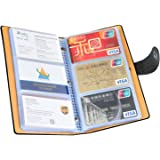 iBayam Business Card Organizer Business Card Holder Book ID Card Credit Cards Book Cards Organizer for 300 Business Cards with Hasp, Black