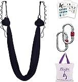Aerial Yoga Hammock 5.5 Yards Premium Aerial Silk Fabric Yoga Swing for Antigravity Yoga Inversion Include Daisy Chain…