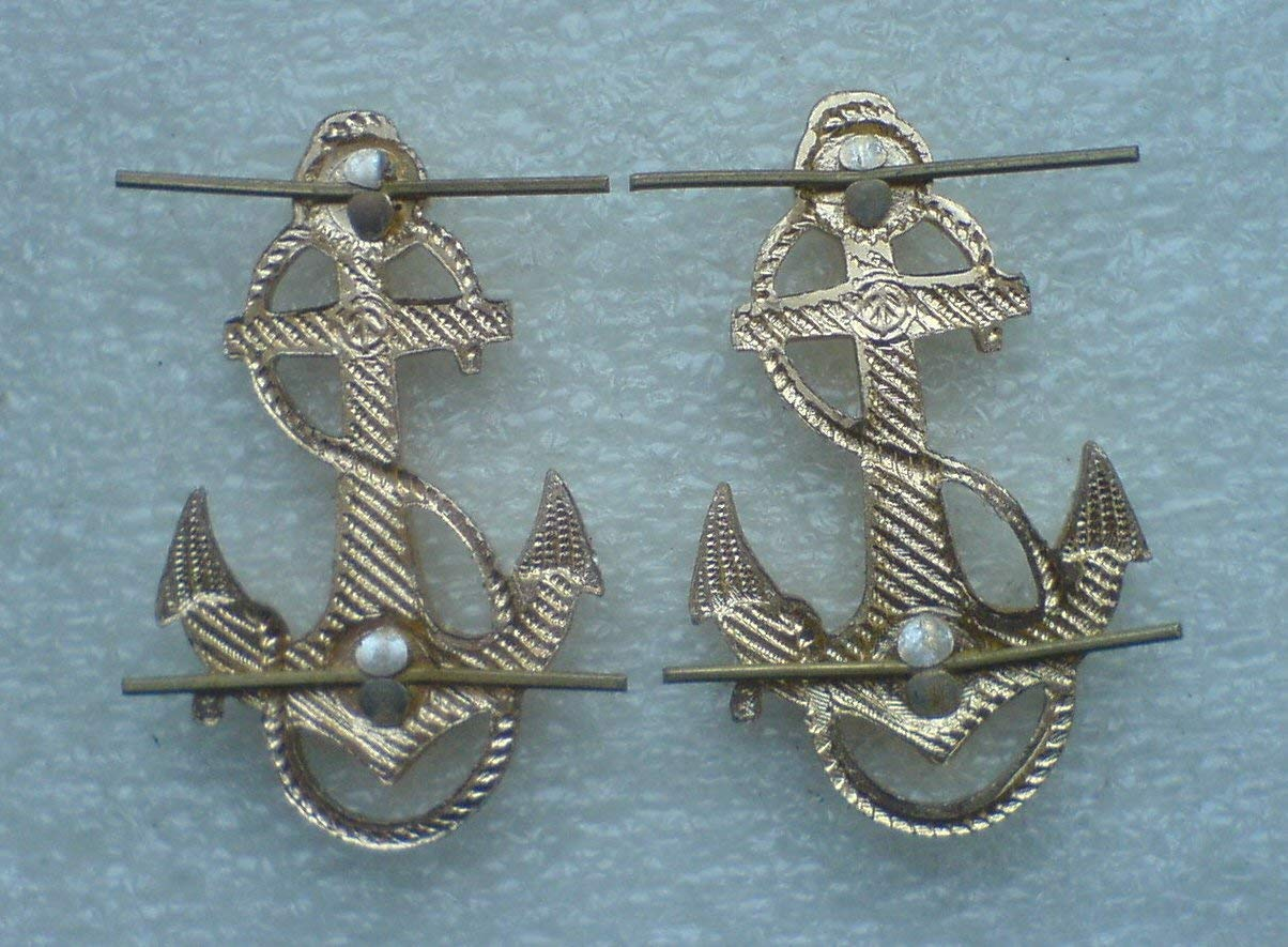 Pair Anchor straps on Sailors USSR Soviet Russian NAVY Army Uniform