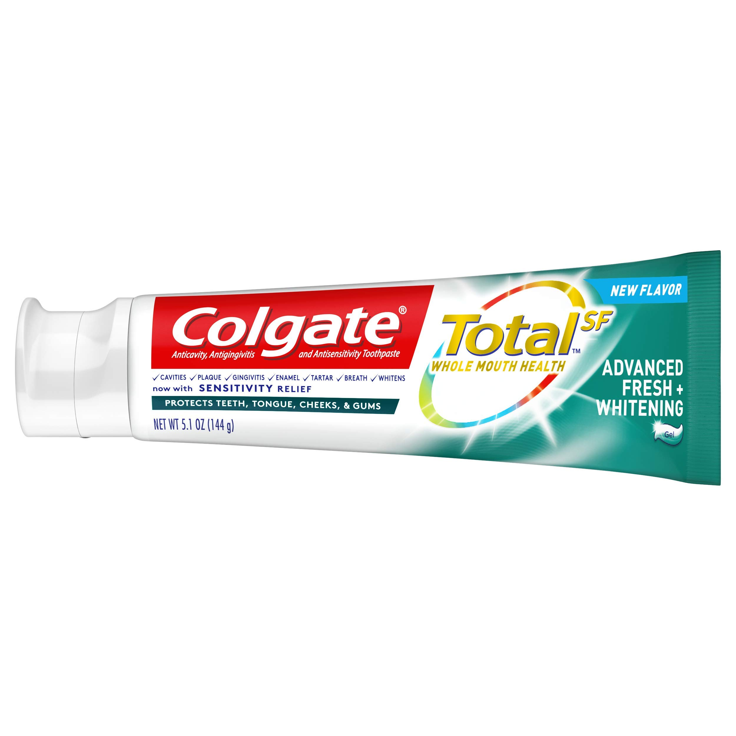 Colgate Total Advanced Fresh + Whitening Gel Toothpaste, 4 Count by Colgate (Image #7)