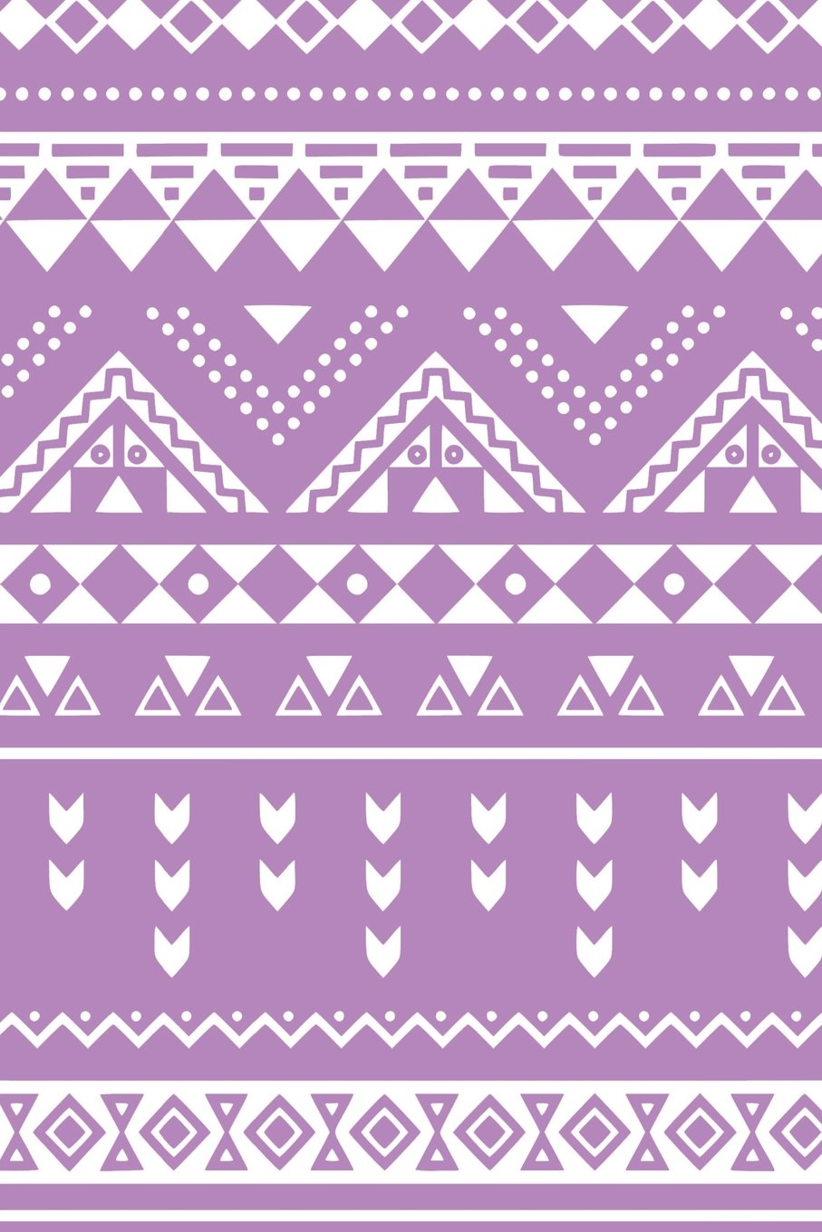 Download Aztec Design Notebook: Bright Lilac: Notebook 6 x 9: Notebook 250 Pages pdf
