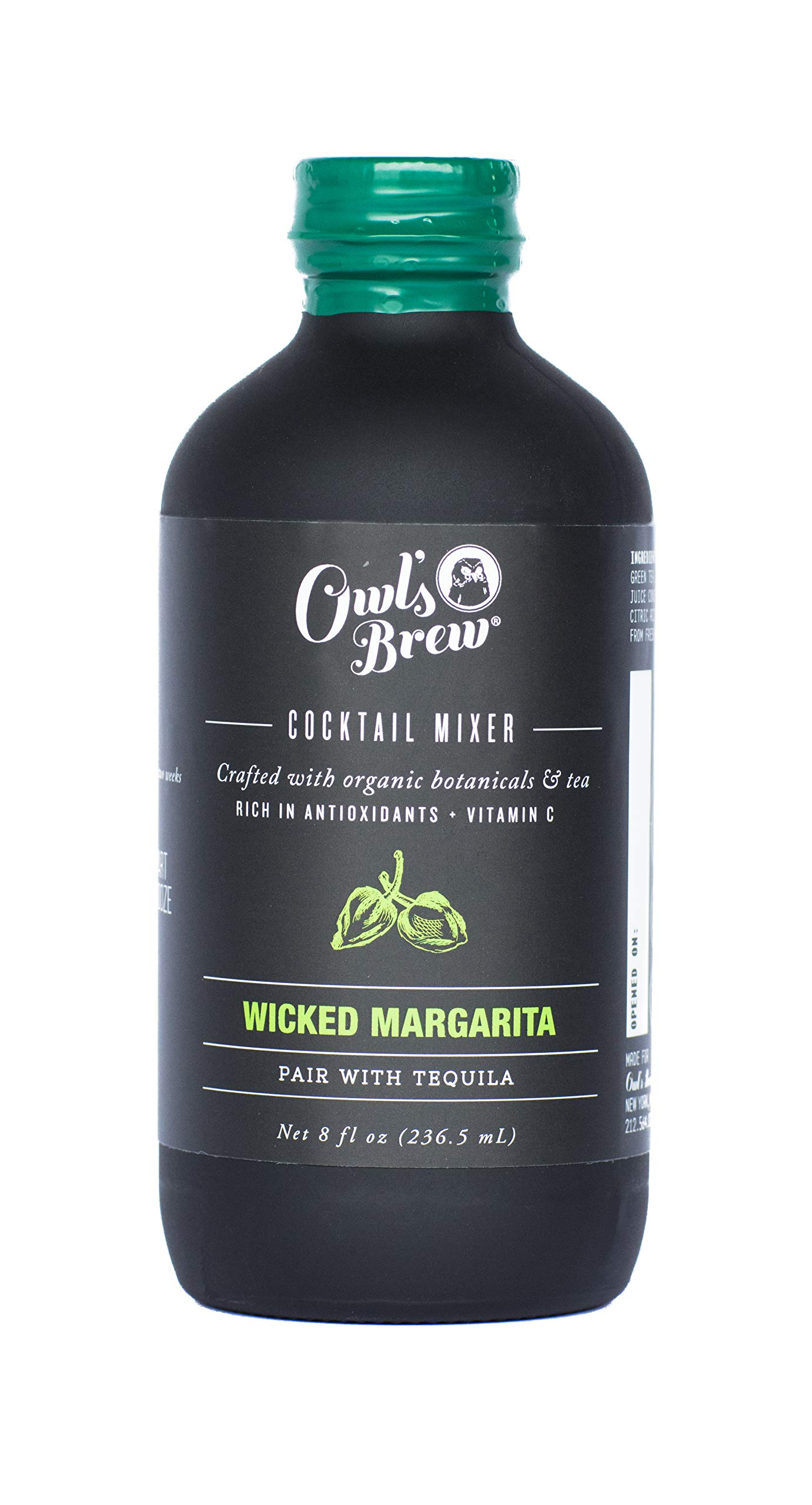 Owl's Brew Wicked Margarita Cocktail Mixer, 8 Ounce Bottle
