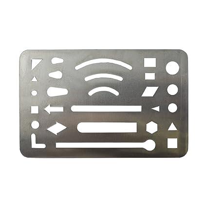 amazon com hand metal credit card size general purpose drawing