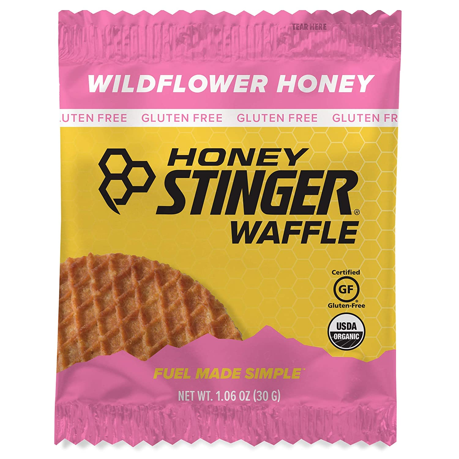 Honey Stinger Organic Waffle, Wildflower Honey, Sports Nutrition, 1.06 Ounce (16 Count)