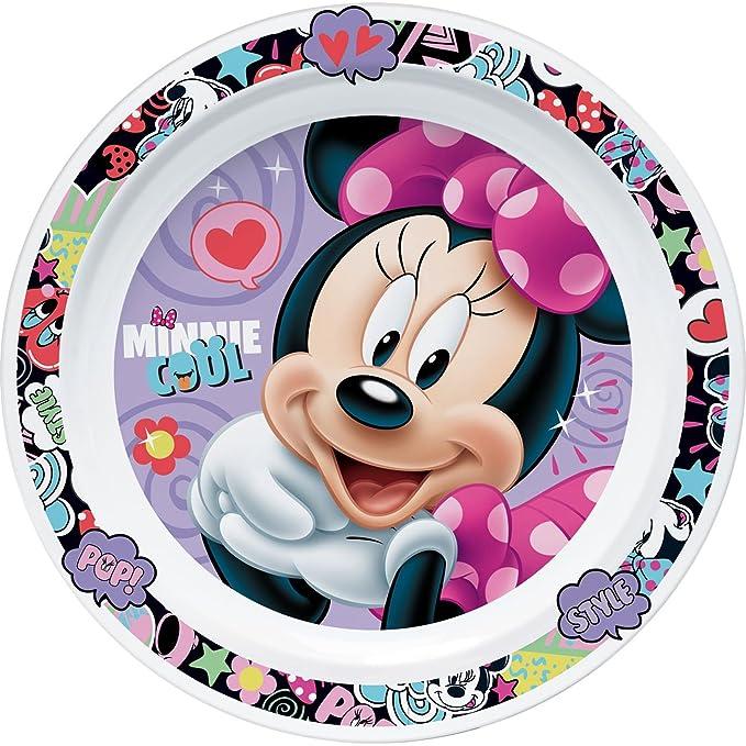 Disney Minnie Mouse Platos de postre de 19 cm | melamina | niña ...