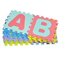 NUOLUX Foam Play Mat Interlocking Alphabet Puzzle Foam Floor Mat Baby Foam Mat Jigsaw for Baby Playing - 26 Alphabet