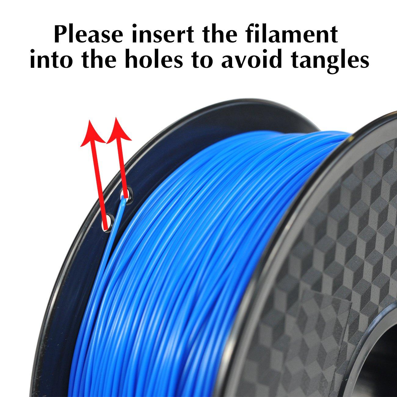 Pantone Code:299C PRILINE PLA-1KG 1.75 3D Printer Filament Blue 1kg Spool Dimensional Accuracy +//- 0.03 mm 1.75 mm