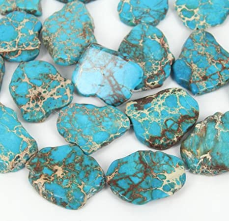 """High Quality Gemstone Natural Genuine Turquoise Oval Beads 15/"""" Free Shipping"""