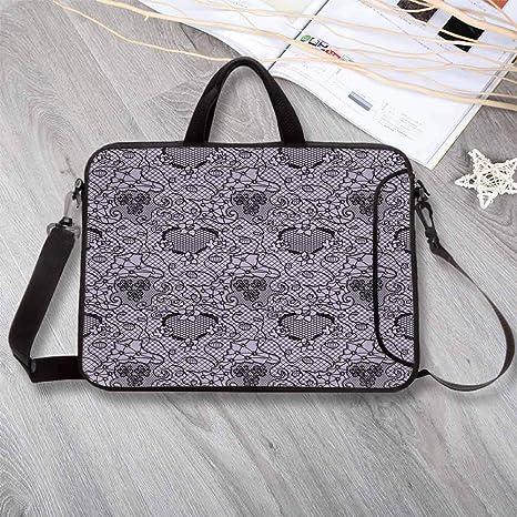 752c45a19423 Amazon.com: Gothic Wear-Resisting Neoprene Laptop Bag,Black Lace ...