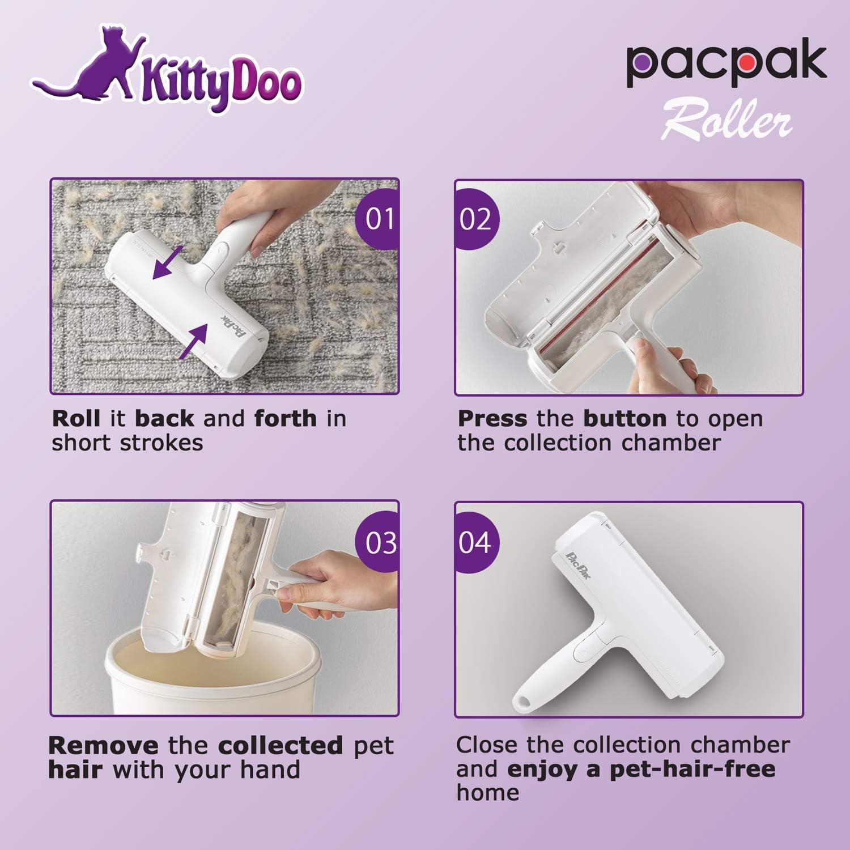 sof/á KittyDoo PAC PAK pelo de perro pelo de gato pelo de animales alfombra Rodillo para pelo de mascotas quitapelusas para muebles Cepillo quitapelusas Paku Paku