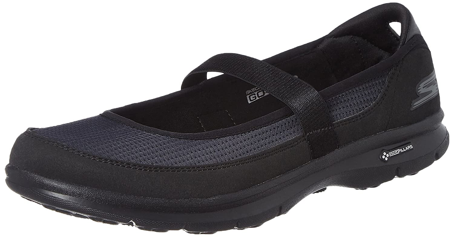 SKECHERS GO STEP ORIGINAL Damen Ballerina GOGAMAT-Technology 14213  40 EU|Schwarz