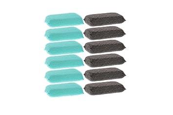 Farberware 12pk limpieza esponjas para cocina, hogar multiusos Scrubber, limpiar platos, ollas, sartenes, encimeras y más color azul y gris: Amazon.es: ...