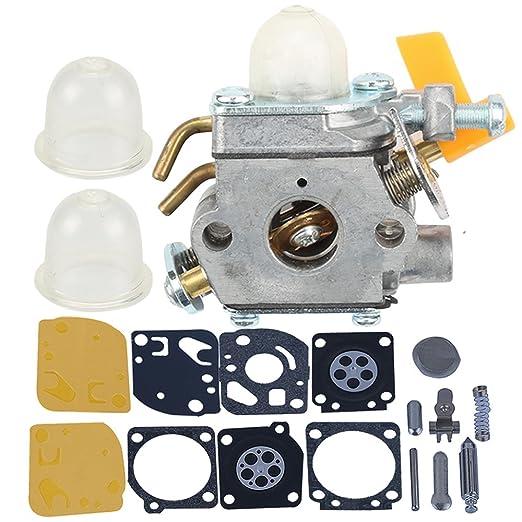 hilom carburador con Carb Kit para Homelite Ryobi Poulan Craftsman ...