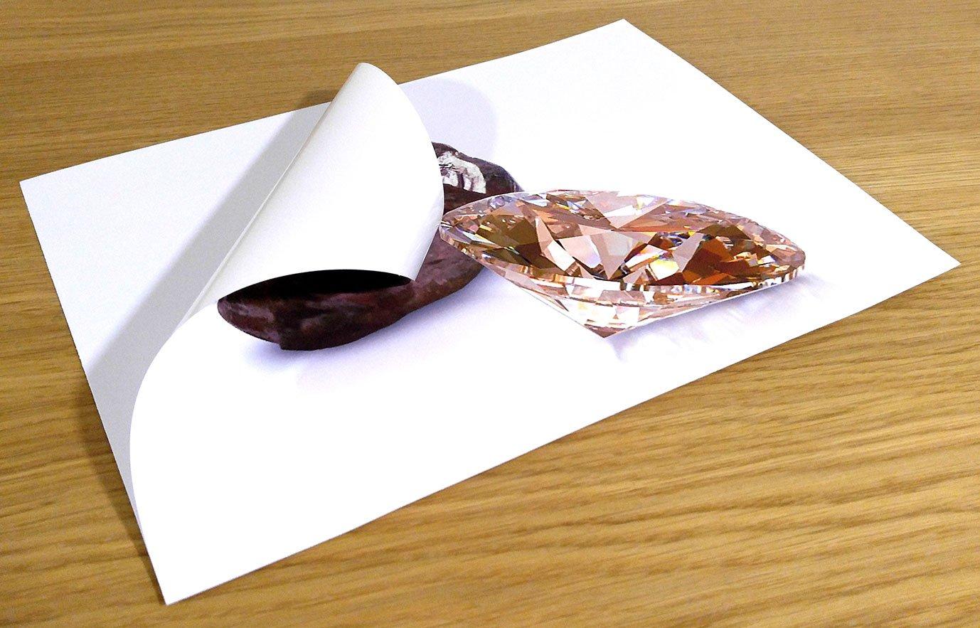 10/feuilles autocollantes A4/rev/êtement /étanche en vinyle mat PVC pour impression jet dencre et laser de qualit/é