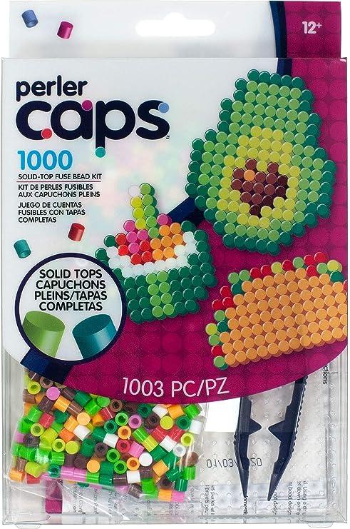 Perler 80-11147 Solid-Top Cap Fuse Beads Zebra Pattern Kit 3505pcs
