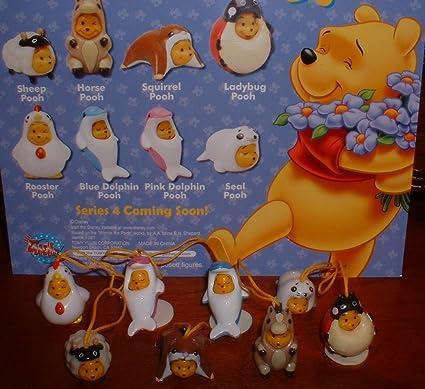 Disney Winnie the Pooh Figure Peek-A-Pooh #1 Return version set of 10 pieces