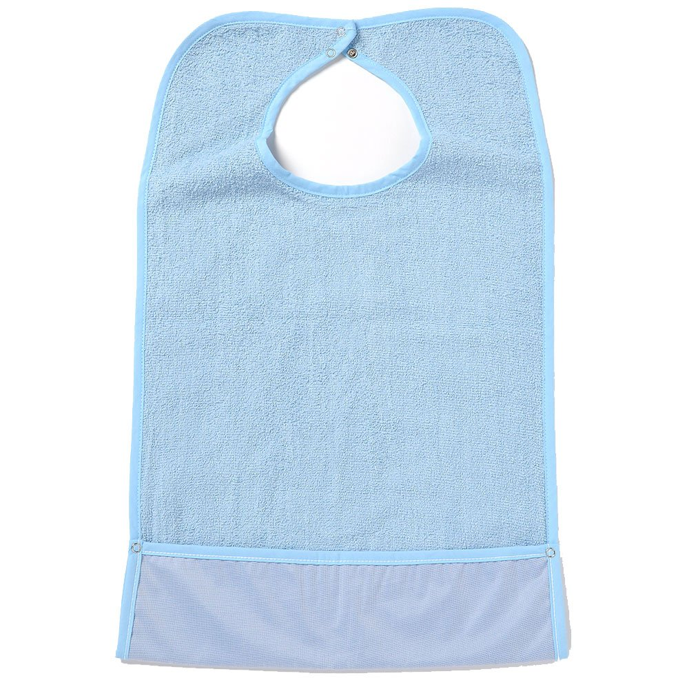 NorthShore ShirtSafe Bib, Blue Terry, Pack/3