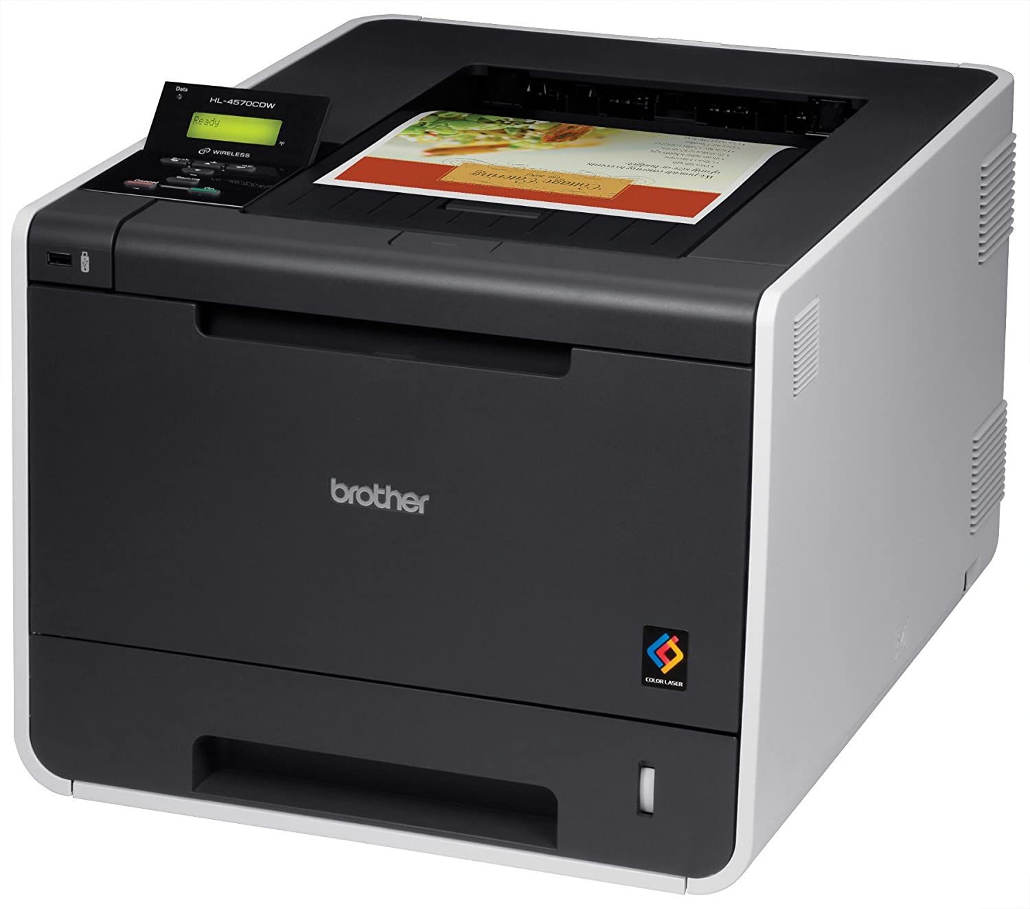 Amazon.com: Brother HL4570CDW Color Laser Printer with Wireless ...