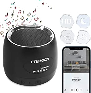 WiFi Mini Camera Bluetooth Speaker, Pelay HD 1080P Video Recorder with Motion Detection/Music Player Wireless Nanny Cam Home Security Surveillance, Black