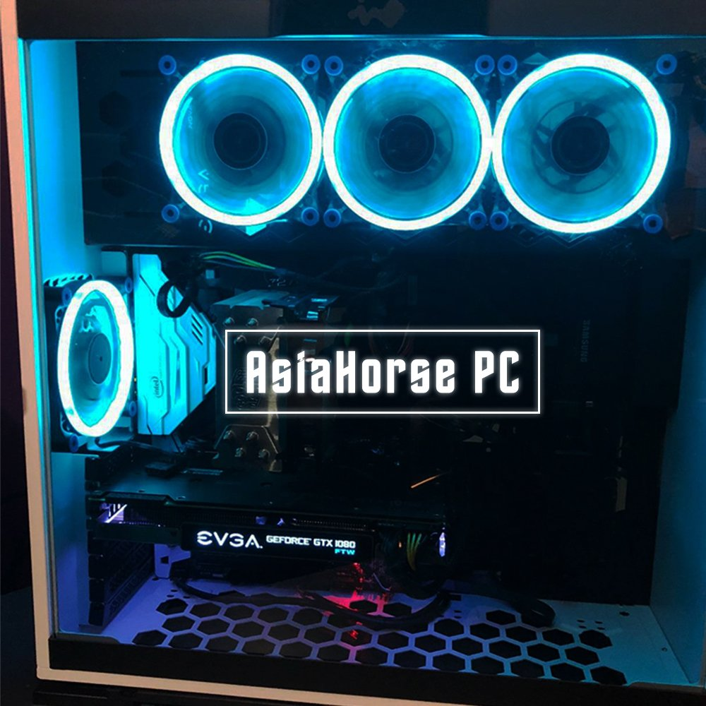 Asiahorse Solar Eclipse UFO120mm Dual Aperture LED Long Life Case Fan,PC Custom DIY from Water Cooling System CPU Cooler 2PACK(ice Blue) by ASIAHORSE (Image #7)