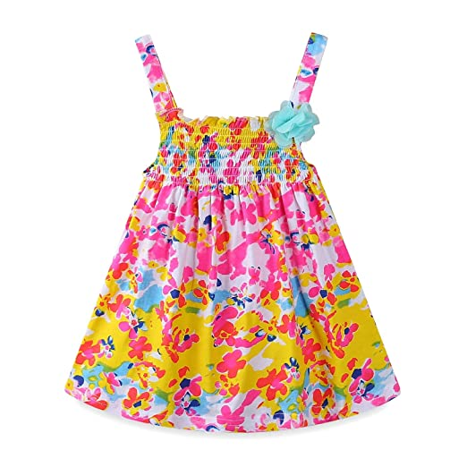 696c3282a Amazon.com  Mud Kingdom Baby Girl Clothes Summer Floral Slip Dresses ...