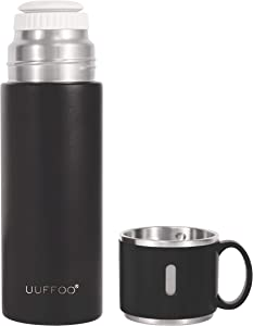 Simple Modern Thermos Mug with Coffee Mug-14oz Vacuum Insulated Stainless Steel Thermos Leak Proof Portable coffee and beverage insulation pot for travel, office and picnic (Black)