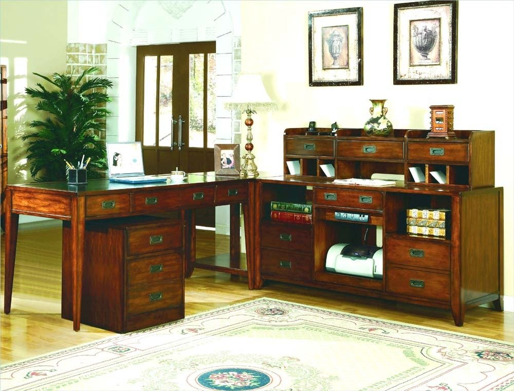 Amazon.com: Hooker Furniture Danforth Executive Leg Desk In Rich Medium  Brown: Kitchen U0026 Dining
