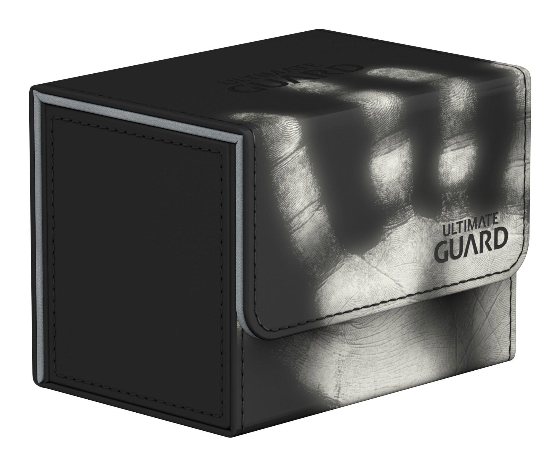 Ultimate Guard Deck Box: Sidewinder 80+ ChromiaSkin Black by Ultimate Guard
