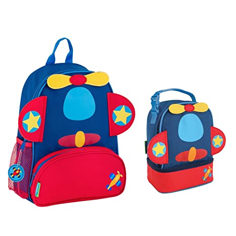 341fd17623f5 Stephen Joseph Boys Sidekick Airplane Backpack and Lunch Pal Combo for Kids