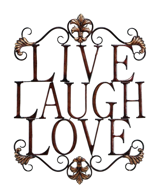 laugh wall art shenra com amazon com live laugh love modern abstract metal wall art home