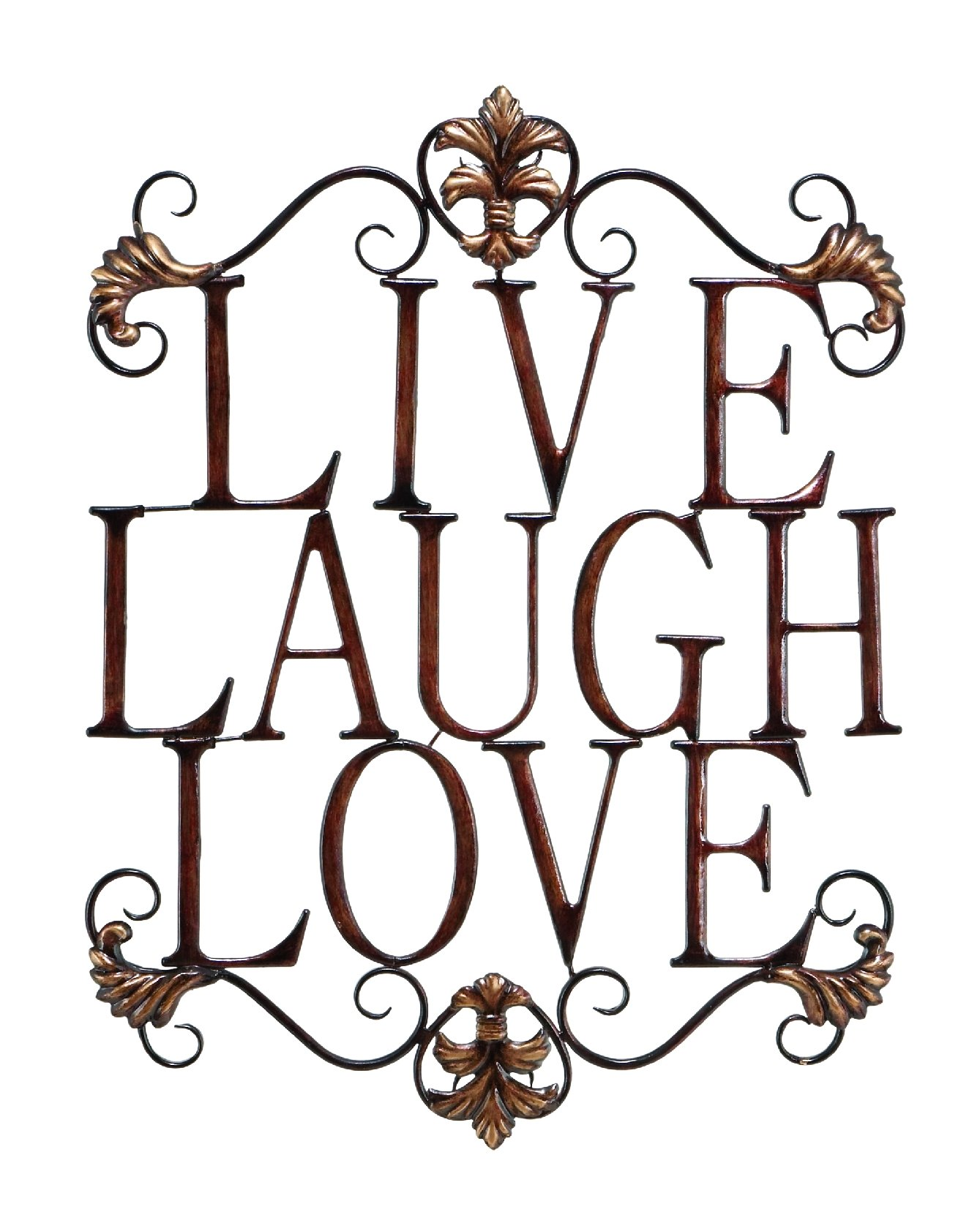 Live Laugh Love Modern Abstract Metal Wall Art Home Decor Decoration 28''h, 21''w by Deco 79