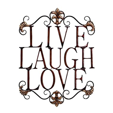 Live Laugh Love Modern Abstract Metal Wall Art Home Decor Decoration 28 h, 21 w