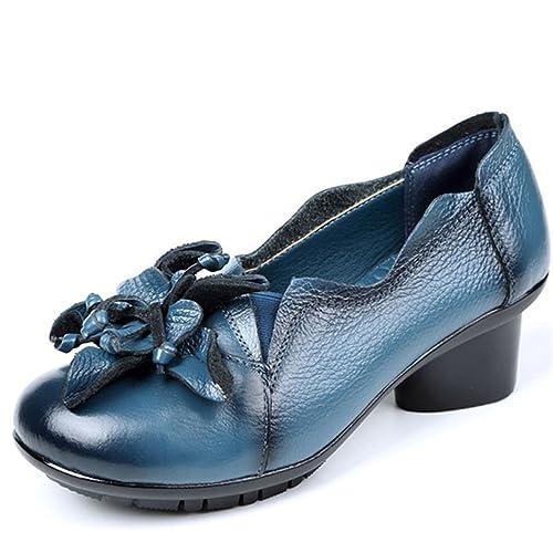Socofy Mocasines Mujer Zapatos de Cuero Mujer Zapatos de Ballet Mocasines Zapatos Casuales Mujer Primavera Verano