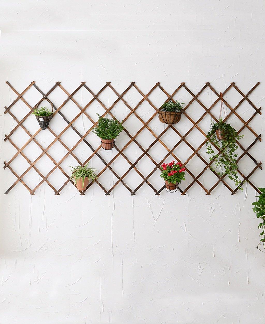 WENZHE Porta-piante Legno Hanging Wall Decoration Flower Frame Garden Legno Griglia telaio esterno del recinto di legno Flower Frame Fiore parete Telaio vario Ripiani ( dimensioni : 29*60cm ) Wen Wen Dian Pu