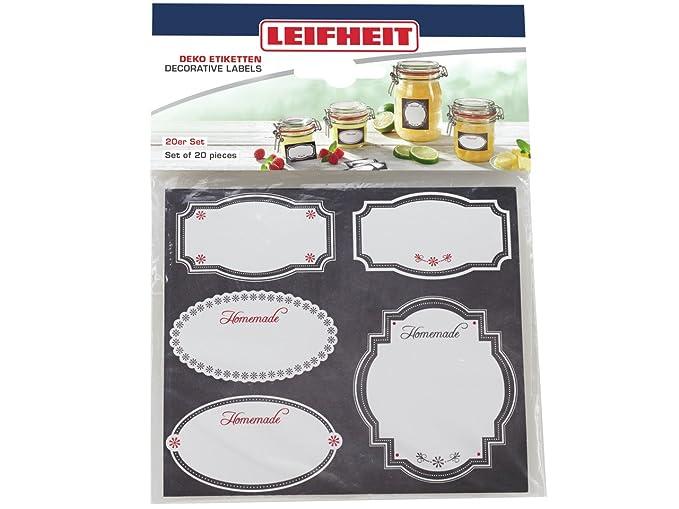mit Marmeladendeckchen selbstklebenden Beige Leifheit Deko-Set Einkochen