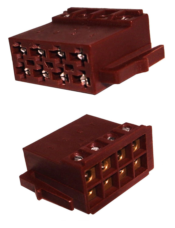 Autoradio ISO-Stecker Adapter für Strom - schraubbare Version ...