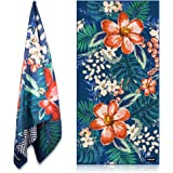 KOLLIEE Sand Free Beach Towels Flowers Portable Colorful Compact Beach Towels Absorbent Pool Towels Sand Proof Beach…