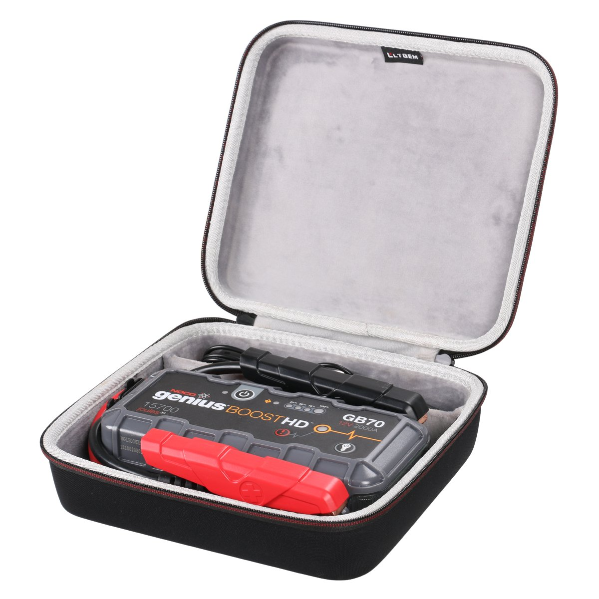 LTGEM EVA Hart Hü lle Reise Tragen Tasche Case fü r NOCO GB70 Genius Boost Plus 1000 Amp Ultra Safe 12 V Lithium Starting Aid Device CS137